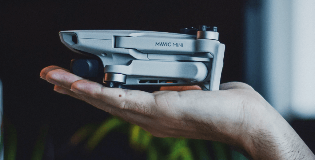 mavic mini is very compact and can fit in a hand