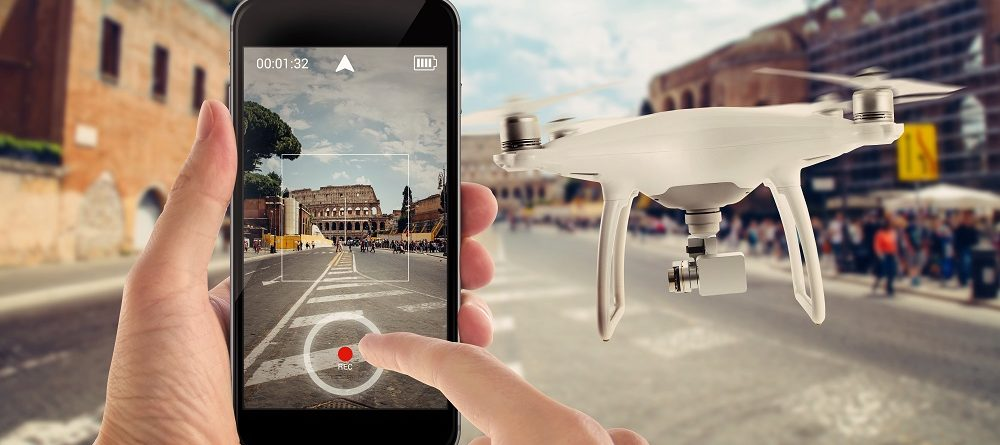 connect drone to smart phone