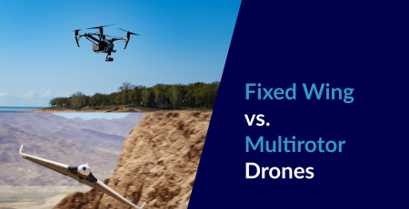 fixed wing and multirotor drones