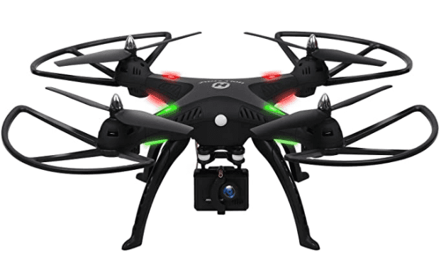 The HS300 RC Quadcopter with 120° Wide-Angle HD Camera