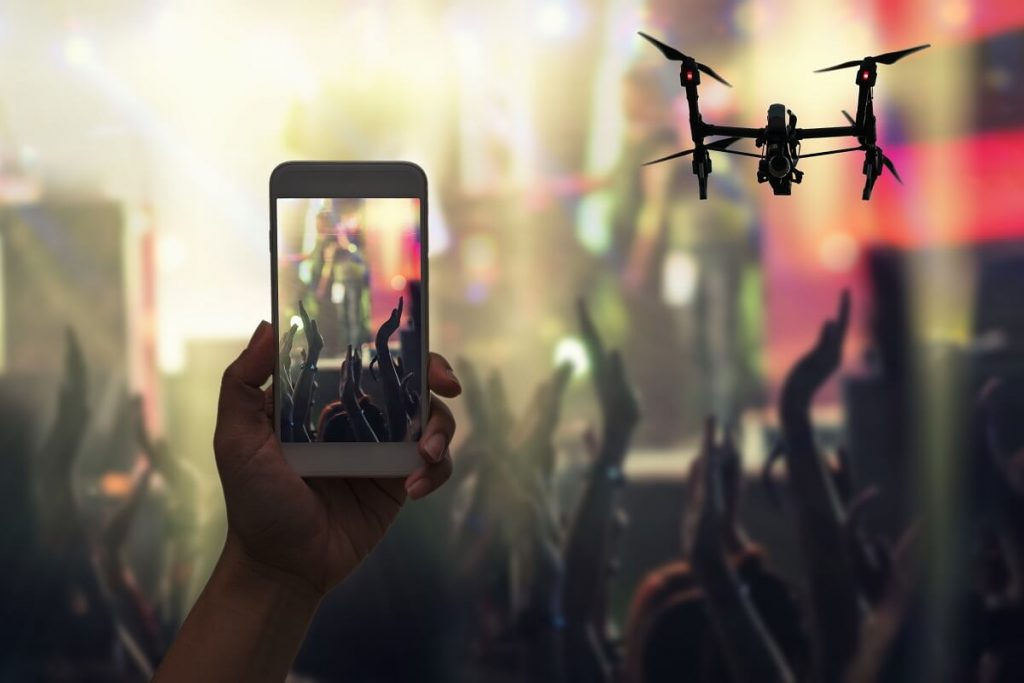 connecting drone to your smart phone
